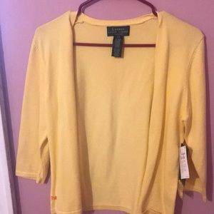 Sunlight yellow Ralph Lauren sweater/cardigan